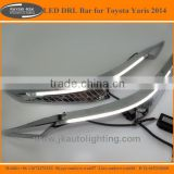 Hot Sale LED DRL Strip for Toyota Yaris High Quality LED Headlamp Eyebrow for Toyota Yaris LED Bar Lights for Toyota Yaris 2014