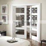 Double leaf interior wooden antique doors, classical french doors