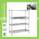 Vegetable kitchen storage rack/ food stainless steel kitchen storage shelf