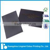 Hot stamping softcover brochure printing with envelope
