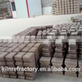High strength Anti-stripping Abrasion resistant Al2O3 85% high alumina phosphated refractory anchor brick for electric plant