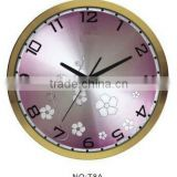 elegant home or office analog aluminium wall clock