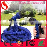 2015 innovative products pressure washer water hose fabric flat garden hose water flexible elastic stretch expanding garden hose