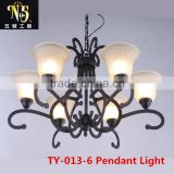 American Style Classic Iron Art Wall/Pendant Light With Pattered Lampshade For Home/Hotel/Coffee House Decoration