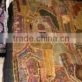 Ethnic Designer Embroidered King Size Bed Spread/Tapestry With