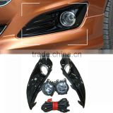 Ford New Fiesta 2013 fog light, high light black painted with chromed ring