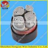 PVC sheath xlpe insulated 0.6/1kv aluminium core power cable for construction