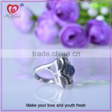 White gold plated silver ring men adjustable ring new fashion diamond ring for man
