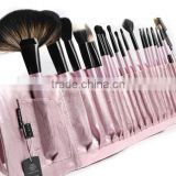 24pcs light pink professional cosmetic tool kit/makeup brush set wholesale/china manufacturer/make up tool bag products china