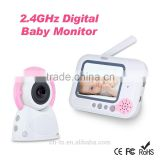 "Wireless Digital 3.5"" LCD Color Baby Monitor ,2.4GHz Camera Audio Video Infrared Night Vision,Music"