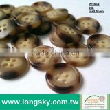 (#P0356R-4HD) 24L 15mm wholesale fancy imitaiton horn and wooden looked custom polo shirt button
