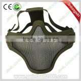 Tactical Military Half Face Metal Mesh Protector Airsoft Mask