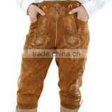 "Bavarian LEDERHOSEN Leather Pants real Leather Oktoberfest light brown W32""-W40"""
