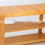solid bamboo shoe rack changing chair