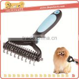 Shedding comb for short haired dogs p0waw new premium grooming tool undercoat rake comb for sale