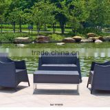 00 aluminum furniture modern good quality leisure rattan wicker living room sofa set YPS039