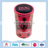 Dog bones-shaped biscuits packaging tin can