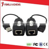 passive usb to rj45 video balun, USB extender by RJ45 for cctv system, RJ45 Extension adapter