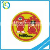 Wholesale customized embossed 3D relief logo soft eco-friendly soft pvc rubber cup coaster