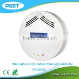 CO detector Carbon Monoxide alarm with LCD display and Buzzer and Indicator light for home security