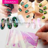 2016 New arrival hot selling Bling Broken glass paper Coloured glaze paper nail art sticker