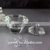 clear crystal glass casket for wedding decoration