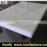 Pure White Polished Artificial Marble Nano Crystallized Glass From Factory