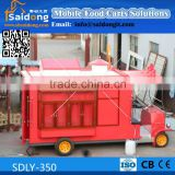 Most Durable and popular design Electric Mobile Food Cart-Buggy Food Truck-Antique food car for sale