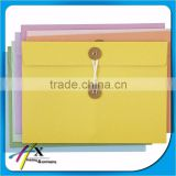 Guangzhou kraft paper envelope with button and string closure
