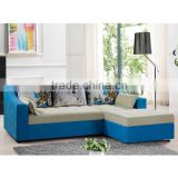 2015 solid wood frame living room furniture fabric functional sofa bed folding inflatable sleeping sofa bed