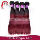 factory producer for fashionable silk straight ombre hair product virgin remy human hair weaving