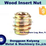 Insert Nut/ Wood Insert Nut / Hex Socket (Furniture Fastener); Bright(White)/Blue/Yellow Zinc Plated; M6, M8, M10