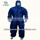 Disposable working coverall,disposable coverall,non-woven coverall,elastic wrist&ankle, zip front