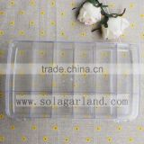 4.7*16.4*28.8CM Transparent Plastic Box With 18 Small Square Bead Storage Container Organizer
