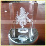 Personalized 3D Laser Wedding Gifts With Engraved Crystal Ganesh For Guest