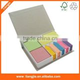 Combined colorful sticky notes with paper index for office/school stationery