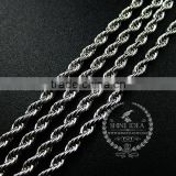 20inch 3mm 316L stainless steel rhodium color necklace chain DIY jewelry supplies 1322038