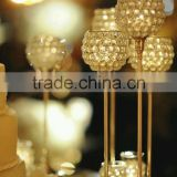 Gold Wedding Centerpiece/ Tabletop/ Crystal Candle Holder/ Tealight Candle Holder