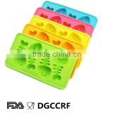 freeze fishbone shape creative 100% food grade silicone ice cube tray cooling drink