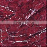 Red color polished glazed porcelain floor tile 600X600mm from Foshan China