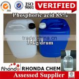 Alibaba recommend this supplier for you high quality 85%Phosphoric Acid food grade price manufacturers