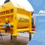Good Performance 2cbm Stationary Hydraulic Full Automatic Forced Js2000 Concrete Mixer Machine China For Sale
