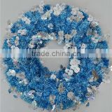 "20"" Blue Tinsel Vintage wreath"