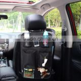 Backseat Organizer for Kids Car Back seat organizer with Tissue holder and Removable Pocket