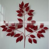 fake leaf branch factory hot selling Outdoor/indoor Artificial ficus leaf branch