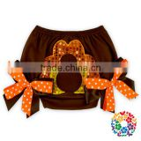 Chinese Manufacturer Baby Girls Holiday Gift Turkey Bloomers Diaper Cover Thanksgiving bloomers