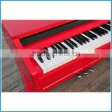 Glossy red color pure piano tone 88 key hammer action keyboard electric piano
