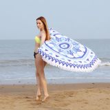 2017 Best Sale 100% Terry Cotton Printed  Round Beach Towel With 150cm