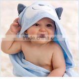 100% Cotton baby hooded alpaca poncho towel baby batn towel poncho