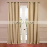 Polyester-cotton fabric blackout window curtain with dark blue